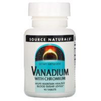 ванадий хром таблетки Source Naturals